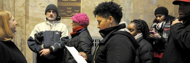 CAAMI Stages Sit-In/Reads Demands at US Attorney's Office